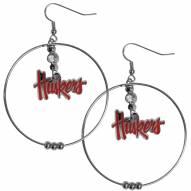 "Nebraska Cornhuskers 2"" Hoop Earrings"