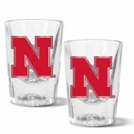 Nebraska Cornhuskers 2 oz. Prism Shot Glass Set