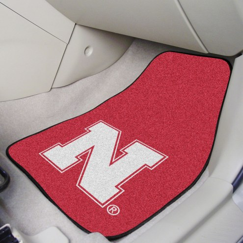 Nebraska Cornhuskers 2-Piece Carpet Car Mats