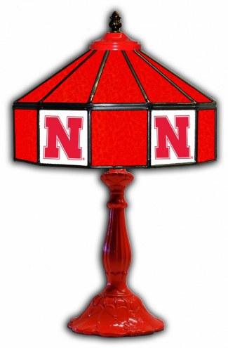 "Nebraska Cornhuskers 21"" Glass Table Lamp"