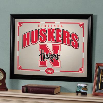 "Nebraska Cornhuskers 23"" x 18"" Mirror"