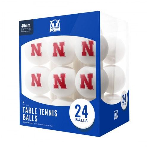 Nebraska Cornhuskers 24 Count Ping Pong Balls