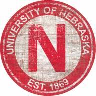"""Nebraska Cornhuskers 24"""" Heritage Logo Round Sign"""