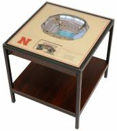 Nebraska Cornhuskers 25-Layer StadiumViews Lighted End Table