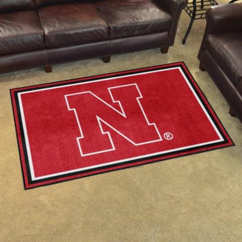 Nebraska Cornhuskers 4' x 6' Area Rug
