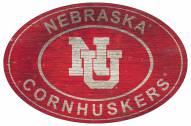 "Nebraska Cornhuskers 46"" Heritage Logo Oval Sign"