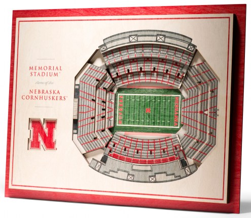 Nebraska Cornhuskers 5-Layer StadiumViews 3D Wall Art