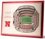 Nebraska Cornhuskers 5-Layer StadiumViews 3D Wall Art