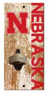 "Nebraska Cornhuskers 6"" x 12"" Distressed Bottle Opener"