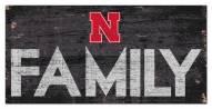 "Nebraska Cornhuskers 6"" x 12"" Family Sign"