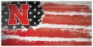 "Nebraska Cornhuskers 6"" x 12"" Flag Sign"