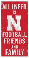 "Nebraska Cornhuskers 6"" x 12"" Friends & Family Sign"