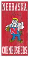 "Nebraska Cornhuskers 6"" x 12"" Heritage Logo Sign"