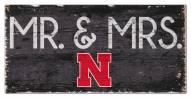 """Nebraska Cornhuskers 6"""" x 12"""" Mr. & Mrs. Sign"""