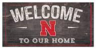 "Nebraska Cornhuskers 6"" x 12"" Welcome Sign"