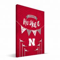 "Nebraska Cornhuskers 8"" x 12"" Little Man Canvas Print"