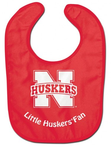 Nebraska Cornhuskers All Pro Little Fan Baby Bib