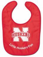Nebraska Cornhuskers All Pro Little Fan Baby Bib