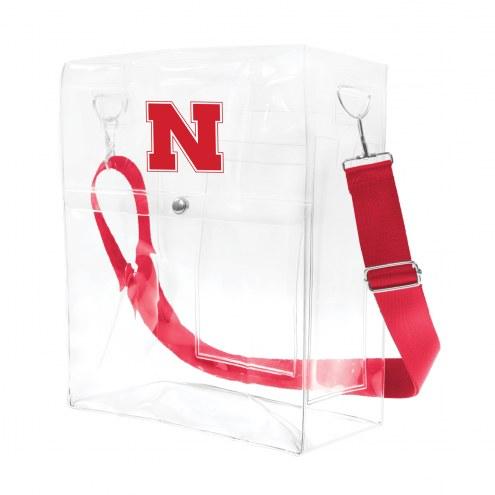 Nebraska Cornhuskers Clear Ticket Satchel