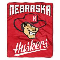 Nebraska Cornhuskers Alumni Raschel Throw Blanket