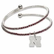 Nebraska Cornhuskers Amped Logo Crystal Bracelet