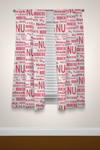 Nebraska Cornhuskers Anthem Curtains