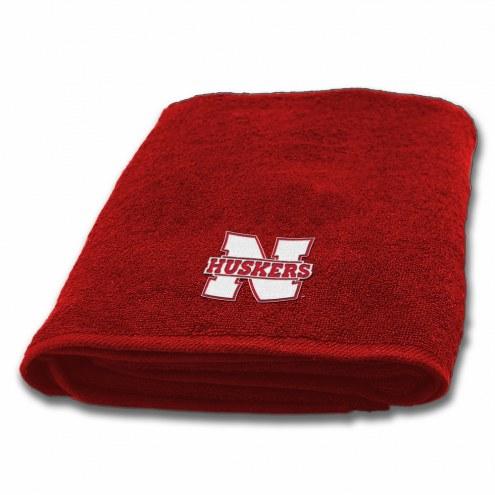 Nebraska Cornhuskers Applique Bath Towel