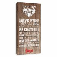 Nebraska Cornhuskers Family Rules Icon Wood Printed Canvas
