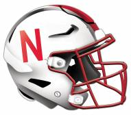 Nebraska Cornhuskers Authentic Helmet Cutout Sign