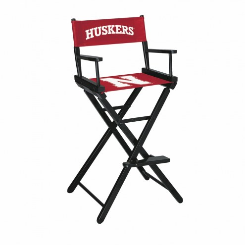Nebraska Cornhuskers Bar Height Director's Chair