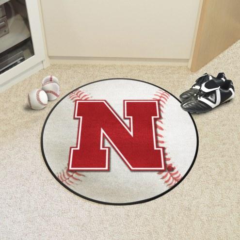 Nebraska Cornhuskers Baseball Rug