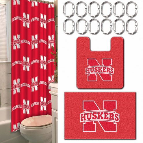 Nebraska Cornhuskers Bathroom Set