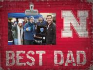 Nebraska Cornhuskers Best Dad Clip Frame