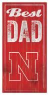 Nebraska Cornhuskers Best Dad Sign