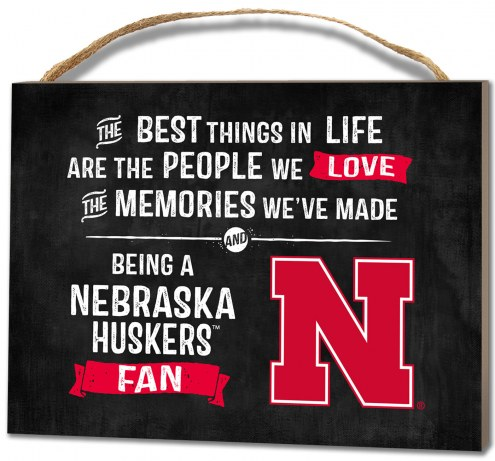Nebraska Cornhuskers Best Things Small Plaque