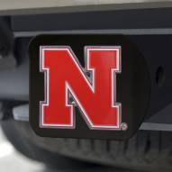 Nebraska Cornhuskers Black Color Hitch Cover