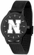 Nebraska Cornhuskers Black Dial Mesh Statement Watch