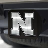 Nebraska Cornhuskers Black Matte Hitch Cover