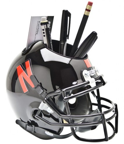 Nebraska Cornhuskers Black Schutt Football Helmet Desk Caddy