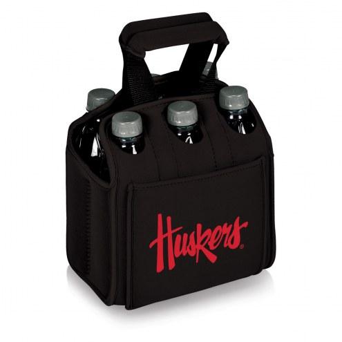 Nebraska Cornhuskers Black Six Pack Cooler Tote