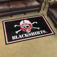 Nebraska Cornhuskers Blackshirts 4' x 6' Area Rug