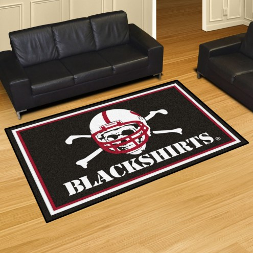 Nebraska Cornhuskers Blackshirts 5' x 8' Area Rug