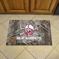 Nebraska Cornhuskers Blackshirts Camo Scraper Door Mat