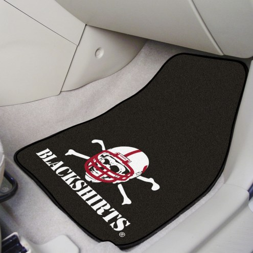 Nebraska Cornhuskers Blackshirts 2-Piece Carpet Car Mats