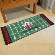 Nebraska Cornhuskers Blackshirts Football Field Runner Rug