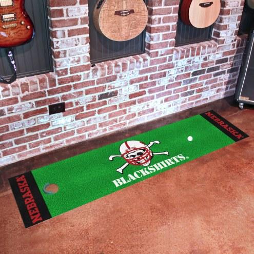 Nebraska Cornhuskers Blackshirts Golf Putting Green Mat