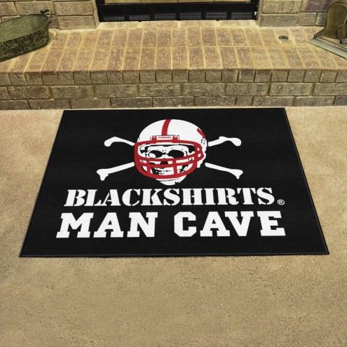Nebraska Cornhuskers Blackshirts Man Cave All-Star Rug