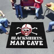 Nebraska Cornhuskers Blackshirts Man Cave Tailgate Mat
