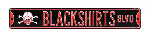 Nebraska Cornhuskers Blackshirts Street Sign