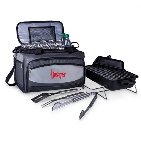 Nebraska Cornhuskers Buccaneer Grill, Cooler and BBQ Set